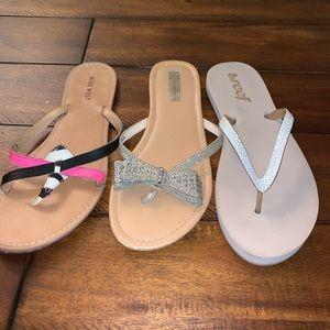 Flip flops, comfy, fun, & dressy, size 7